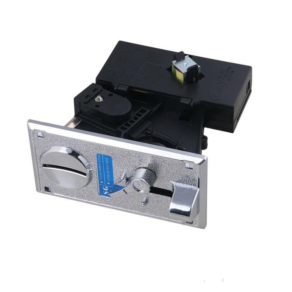hangang 6 tipos diferentes monedas Selector akzeptor para Arcade de vídeo Juegos Vending eléctrica de la fuente y monedas de máquinas admiten Multi de señal ...