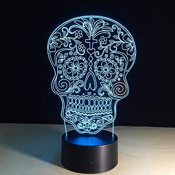 wangZJ Lámpara de ilusión 3d / Luz de noche táctil colorida ...