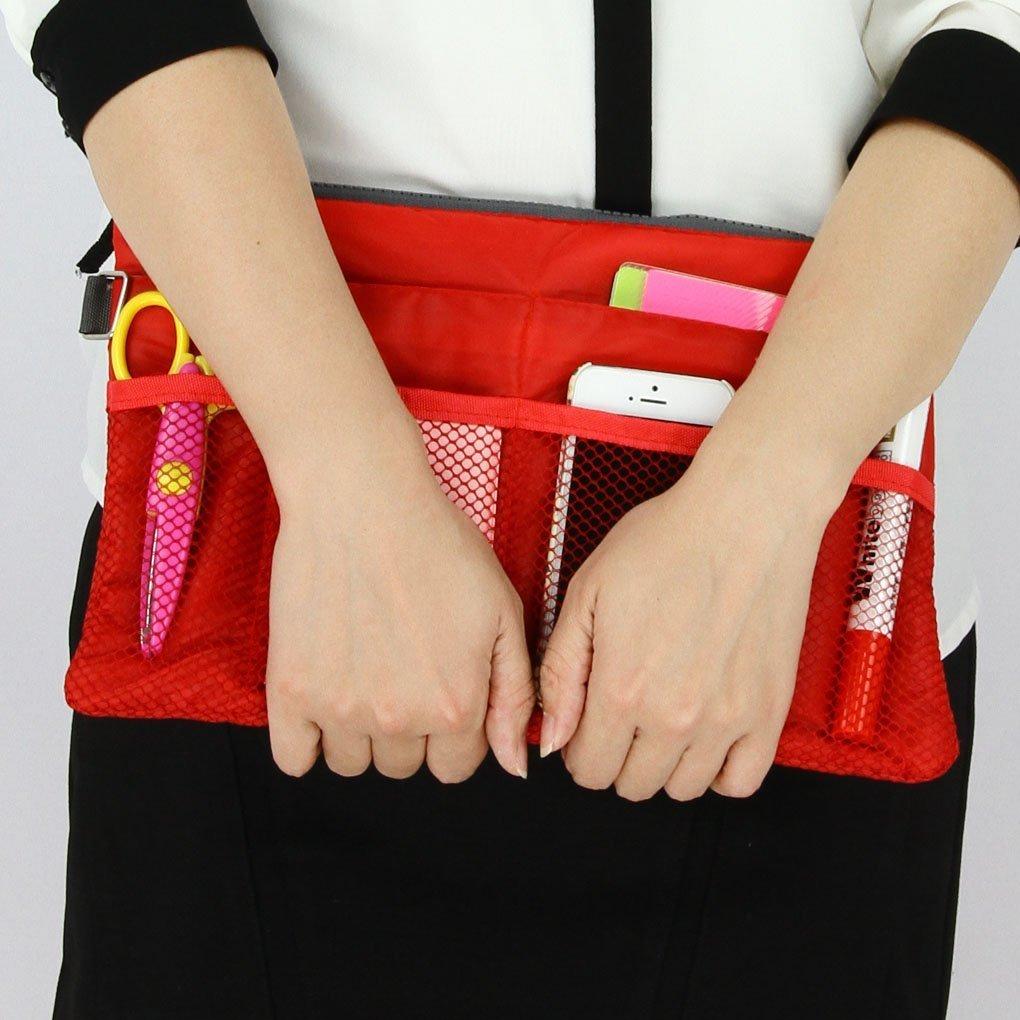Da.Wa Voyage Sac Polyester documents organisateur de sac de cosm/étiques de sac de rangement sac Vanity rouge