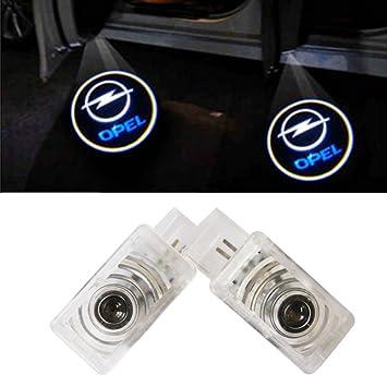 XYSTAR Coche Logo LED Proyector luces puerta, 2 PC Coche LED Logo Puerta Iluminación: Amazon.es: Coche y moto