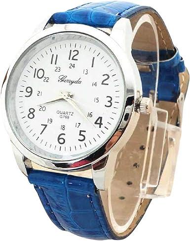 Bestow Reloj Simple Reloj de Pulsera de Cuarzo Elegante Correa ...