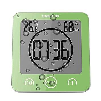 Temporizador Reloj Termómetro Higrómetro con ventosa [impermeable reloj de pared para baño]: Amazon.es: Hogar