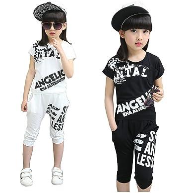 7a10ac292a9d5 Amazon.co.jp: 【ノーブランド品】キッズ ヒップホップ ダンス衣装 ...