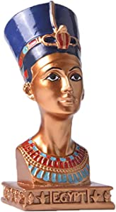 FPKOMD Egyptian Statues Decor Egyptian Figurines Sculptures for Decor Living Room,House,Garden Decorations,Lndian Statue, Abstract Statue Sculpture Handmade Crafts Queen Statue Egyp