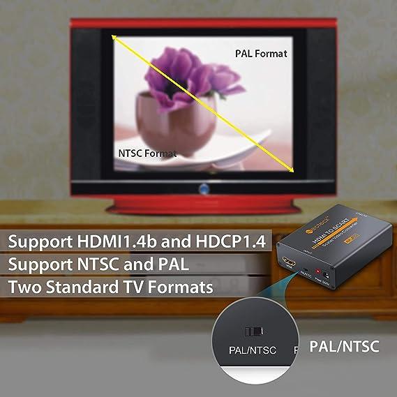 Neoteck HDMI a Euroconector Convertidor Composite Vídeo HD Audio Estéreo Adaptador de HDMI a SCART HDMI Entrada Salida SCART para TV Reproductor SKY HD Blu-Ray DVD de Apple PS3: Amazon.es: Electrónica
