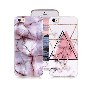 Yunbaozi 2 Funda Mármol para iPhone 5s/5 iPhone SE, Diseño ...