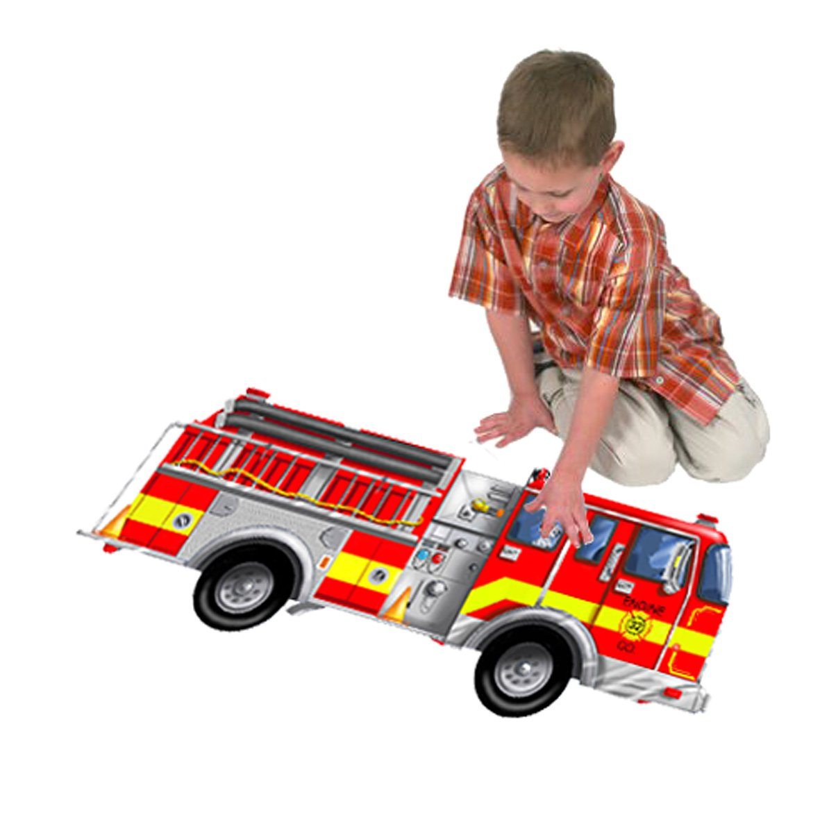 Exceptional Amazon.com: Melissa U0026 Doug Fire Truck Jumbo Jigsaw Floor Puzzle (24 Pcs, 4  Feet Long): Melissa U0026 Doug, 24pc 436 : Toys U0026 Games