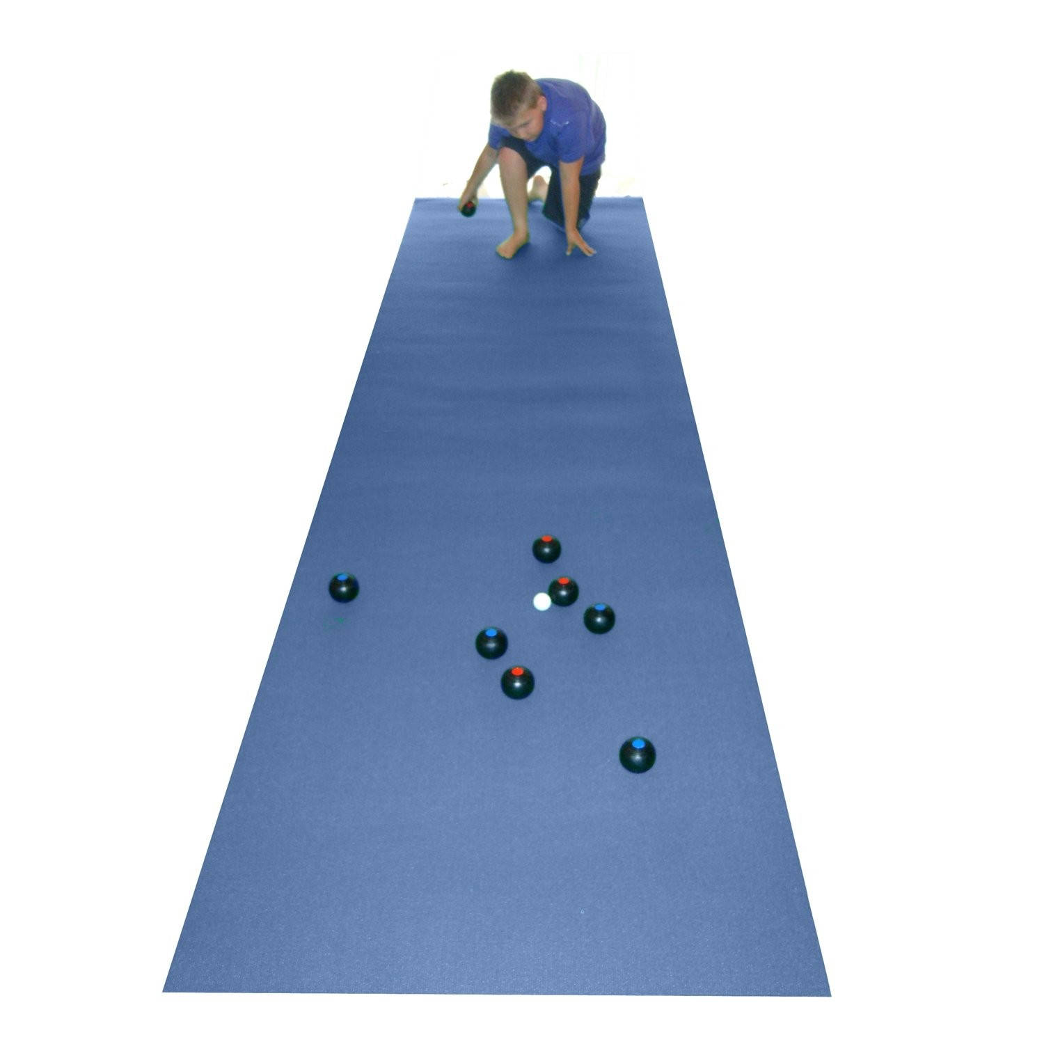Perfect For Restricted Indoor Area! 400 X 100Cm Be-Active Carpet Bowls /& Blue Bowls Mat