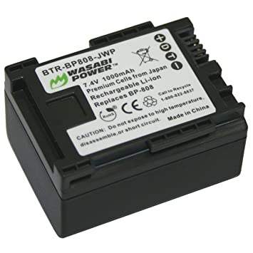 Amazon.com: Wasabi Power – Batería y Cargador para Canon BP ...