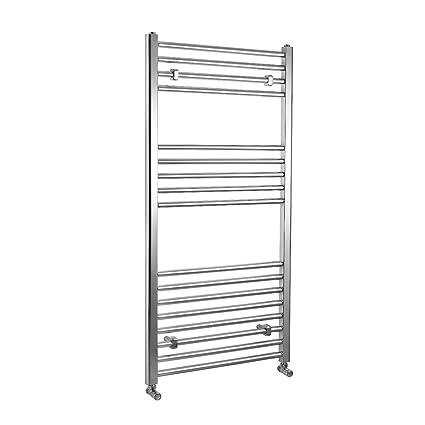 ENKI radiador toallero para baño diseño plano cromado 1200 x 600 mm