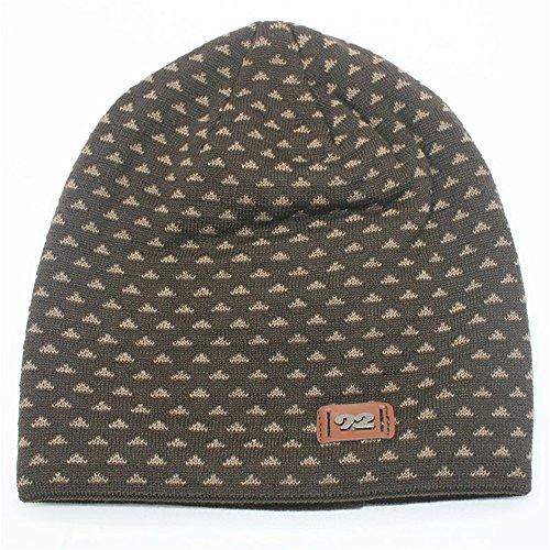 Patrón Unisex café Hat BaronHong de Beanie Slouchy Warm Cap triángulo Skully Velvet rBrwqp7