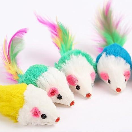 Juguete para Gato con diseño de ratón, Agumx Furry, Juguetes para Gatito con Cola