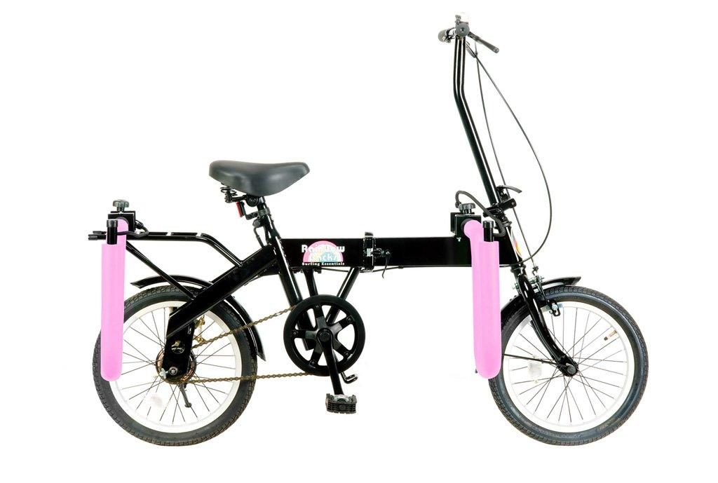 【 Rainbow サーフキャリア付折畳み自転車 FD-1@25920】 レインボー ビーチクルーザー 自転車 サイクル B07C1NVYF4 ピンク ピンク