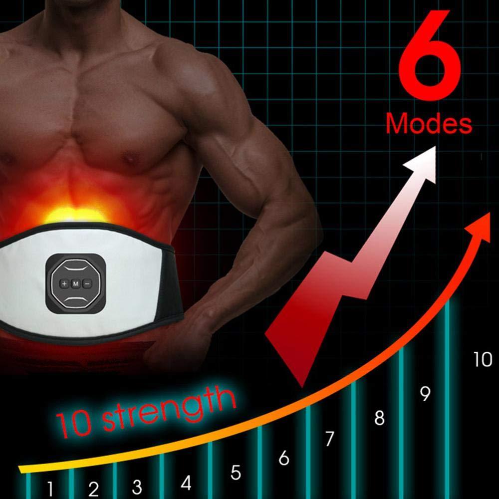 PAWACA 1-10 Niveaux Electrostimulateur Musculaire Id/éal pour Hommes//Femmes Stimulateur Musculaire Abdominaux Forme dexercice Fitness pour Abdominal//Cuisse USB Charge