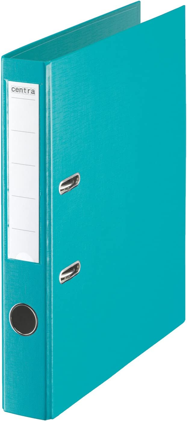 Turquoise Pack of 10 Centra 50 mm A4 Plastic Lever Arch File
