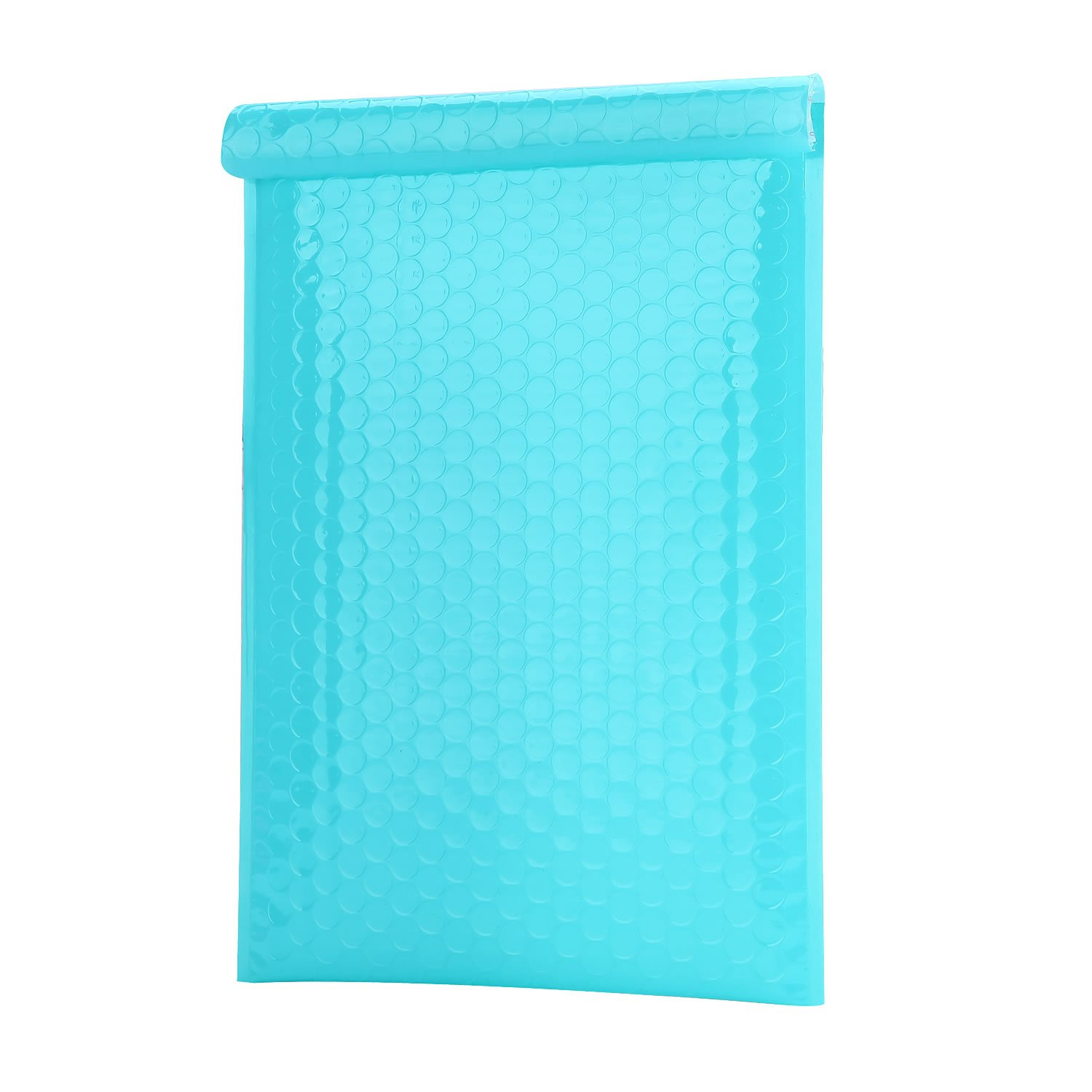 PackaPro #0 Poly Self-Seal Bubble Mailer 6X10 Special Extra Wide (actual size 7X10) Padded Envelopes Pack of 50 - Teal