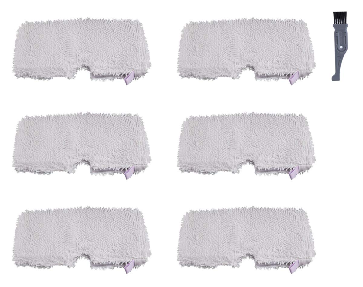 I clean Replacement Shark S3501 Steam Pocket Mops, 6 Pieces for Shark S3500 series 3601 S3550 S3901 S3801 SE450,Replacement Shark Lift Away Professional Steam Pocket Microfiber Mop Pads Cleaning Pads