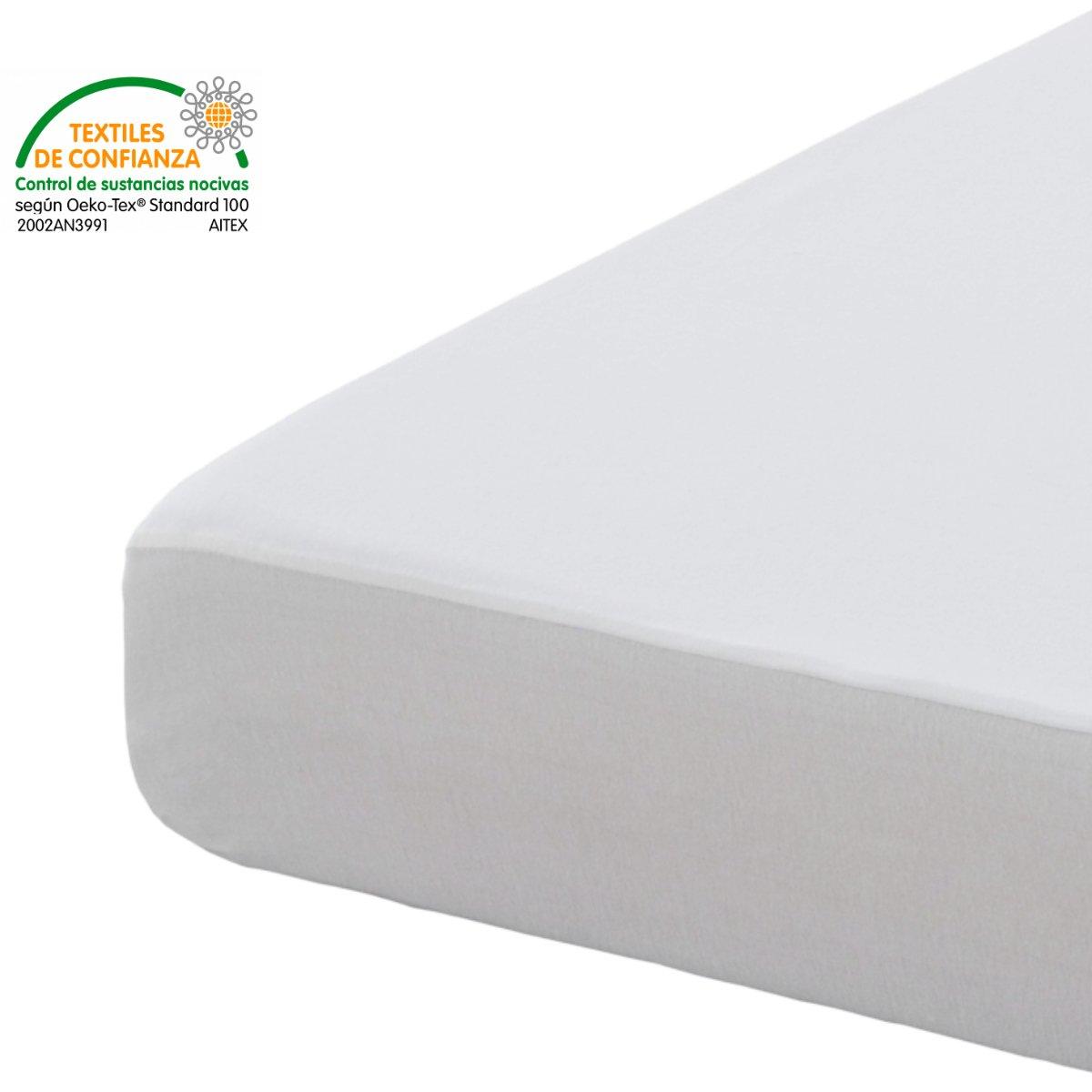 Abitti Bonitex - Protector de colchón Altea de 150cm: Impermeable y Transpirable, 100% algodón Natural, Cama 150 x 190/200 cm: Amazon.es: Hogar