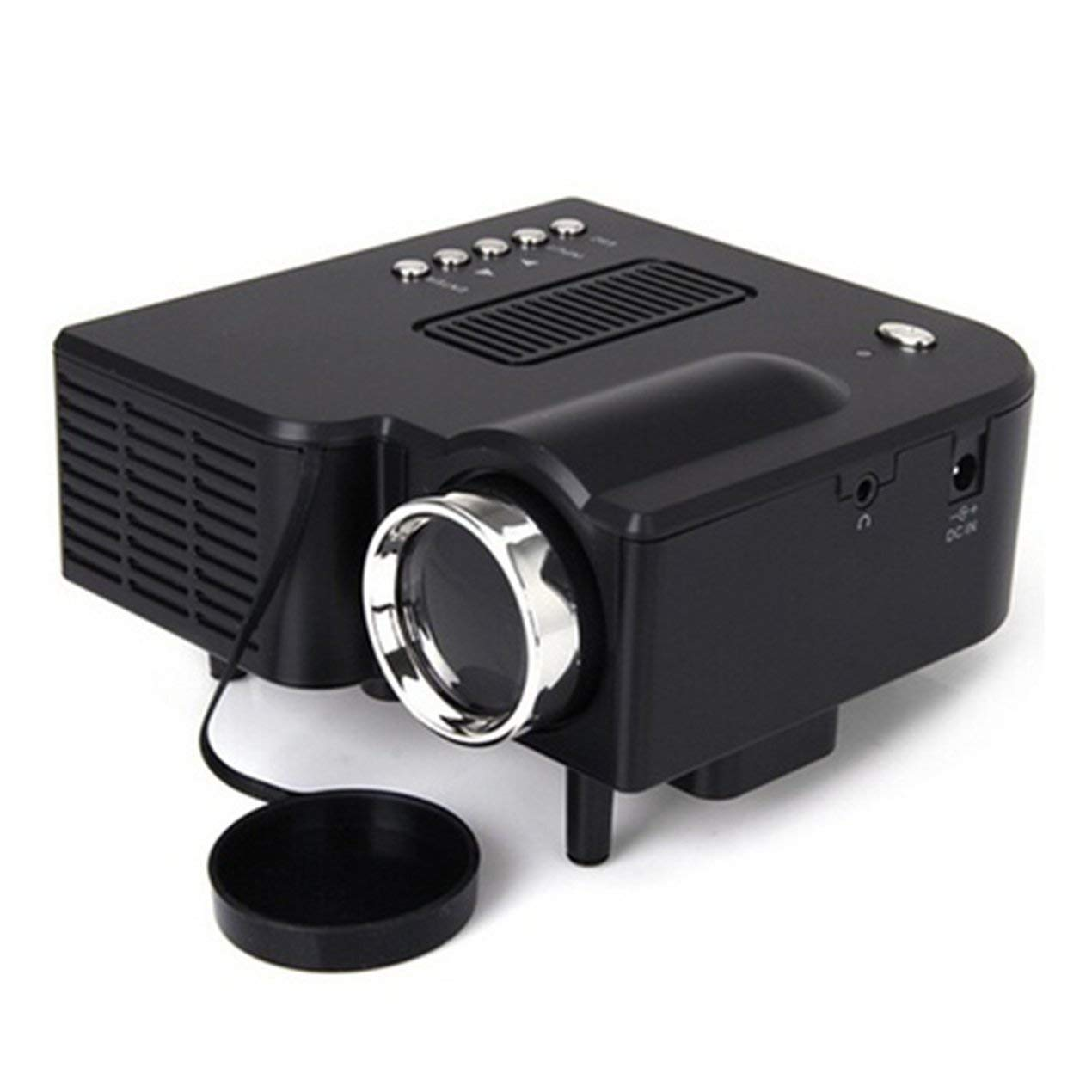 Mini proyector, 1080P HD LED proyector de vídeo LCD Soporte VGA/AV ...