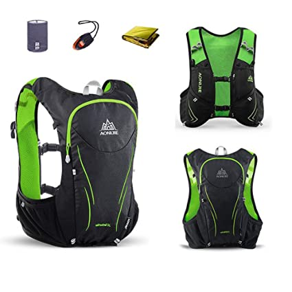 30d9b7c1fc AONIJIE 5L Hydration Pack Vest Backpack Rucksack Daypack for Hiking Camping  Outdoor (Green Backpack,