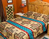 Mission Del Rey Southwest Bedding Cochiti Cross Collection (Queen 88x96, Tan)