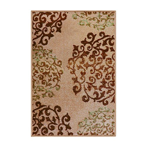 (Blue Nile Mills Digitally Printed, Low Maintenance, Affordable and Fashionable, Non-Slip Amber Area Rug, 2' x 3', Camel)