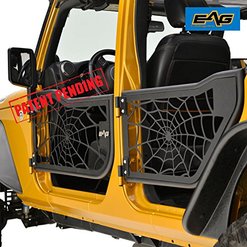EAG Tubular Spider Web Doors With Side Mirrors for 07-18 Jeep Wrangler JK (4 Door Only)