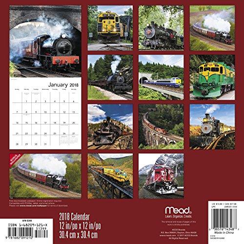 2018 Trains Wall Calendar (Mead)