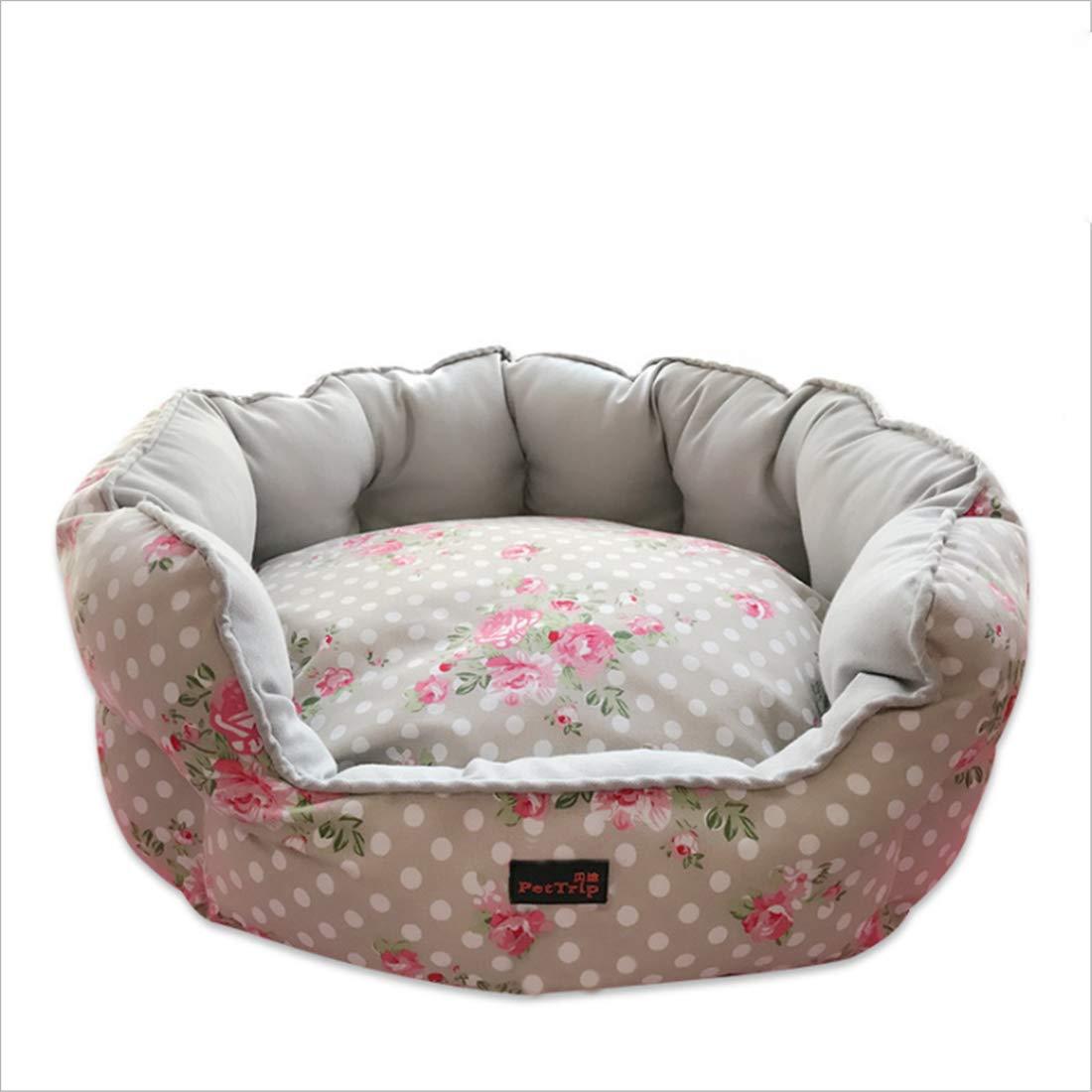 Medium Cute Canvas Kennel Cat Nest Sofa Dog Bed Reversable Cushion Distaccabile Dirt Resistente Morso G  / 2 Sizes