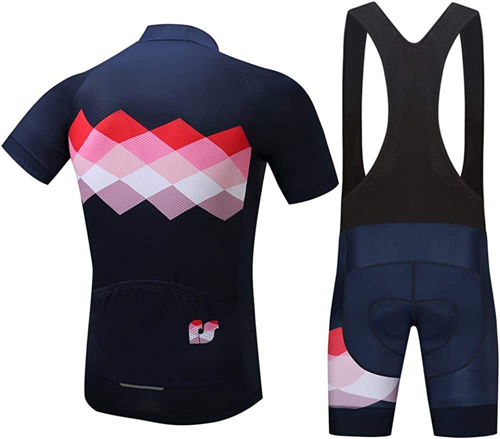 SUREA Quick Dry Summer MTB Cycling Jersey for Men Short Sleeve Clothes Breathable Bike Clothing
