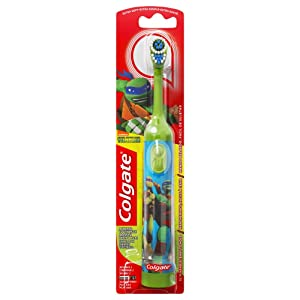 Colgate Kids Power Toothbrush, Teenage Mutant Ninja Turtles, Extra Soft, color and design may vary