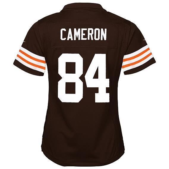 Nike Jordan Cameron Cleveland Browns Home Brown Jersey Girls Youth ...