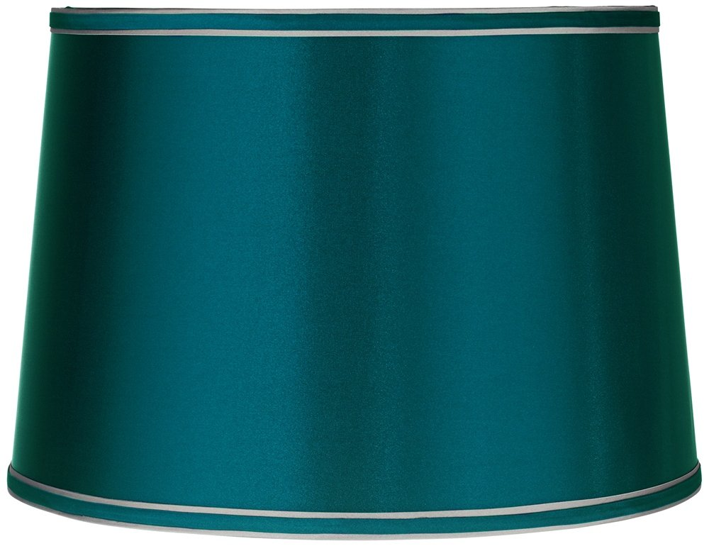 Sydnee satin teal blue drum lamp shade 14x16x11 spider sydnee satin teal blue drum lamp shade 14x16x11 spider lampshades amazon mozeypictures