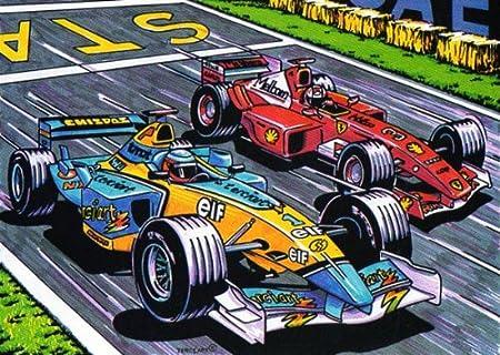Malvorlage Samtbild Zum Ausmalen Motiv Formel 1 51 X 38 Cm Amazon De Spielzeug