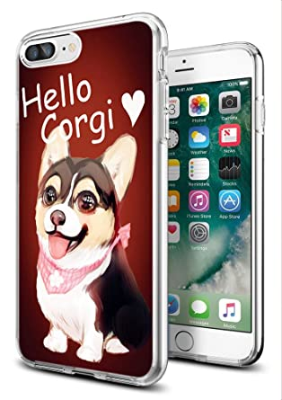 finest selection ea484 b06aa iPhone 8 Case Corgi,iPhone 7 Case Corgi,Gifun [Anti-Slide] and [Drop  Protection] Clear Soft TPU Premium Flexible Protective Case for Apple  iPhone ...