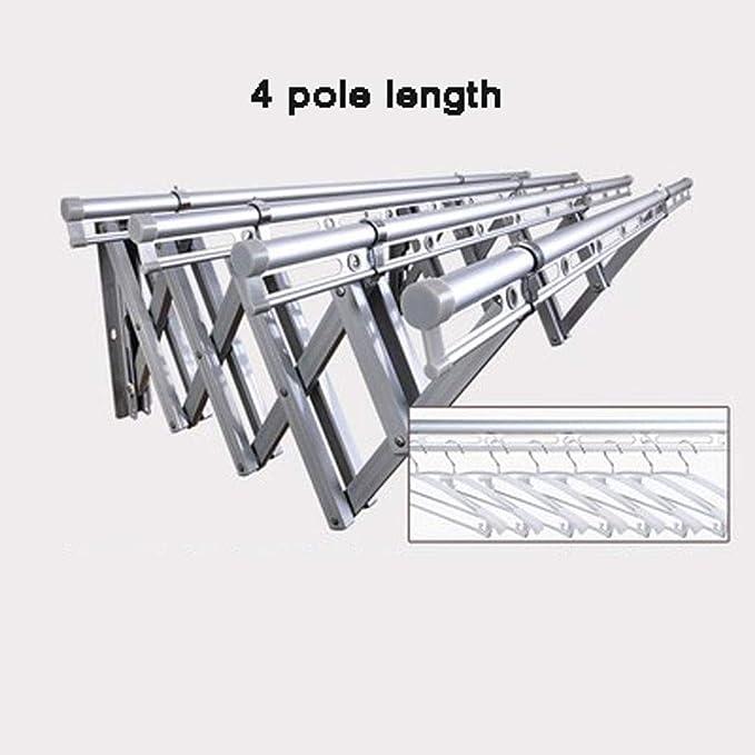 Metal bastidores acordeón montado en la Pared bastidores Plegables telescópicas,4track-Silver: Amazon.es: Hogar