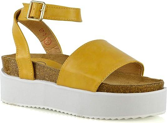 ESSEX GLAM Womens Flatform Sandals