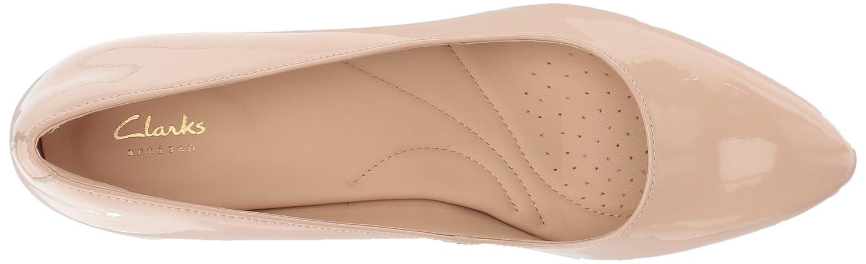Clarks Woherren Calla Calla Calla Rosa Pump Cream Patent Leather 10 Medium US 7ce645