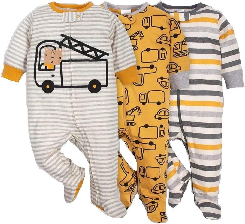 Gerber Onesies Baby Boy Sleep N Play Sleepers 3 Pack