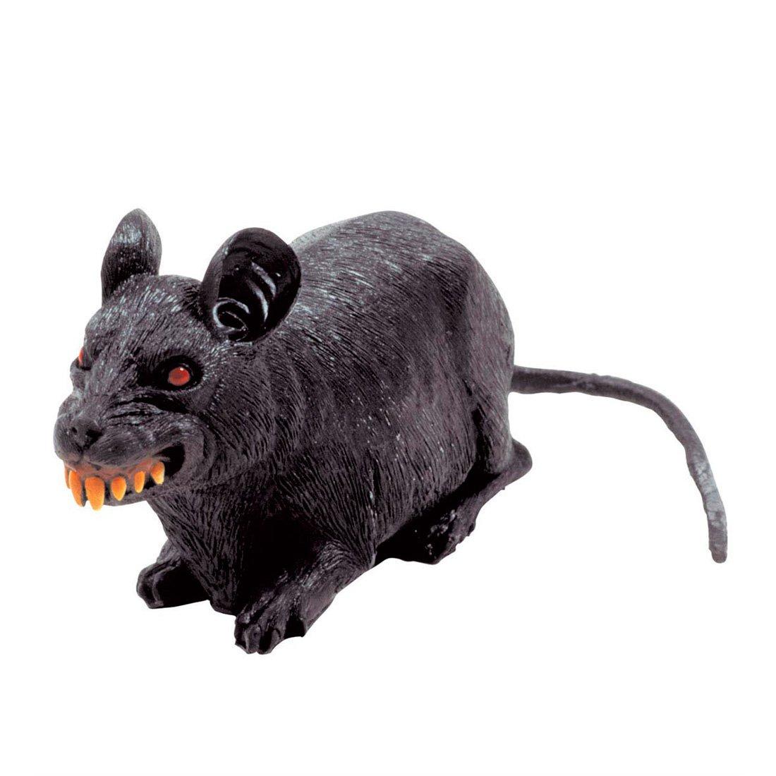 Rat effrayant Halloween déco horreur rat peur rat pour décoration déco de fête déco décoration d'Halloween NET TOYS