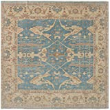 """Ecarpetgallery Hand-knotted Royal Ushak Open Field 10'10"""" x 10'10"""" Green 100% Wool area rug"""