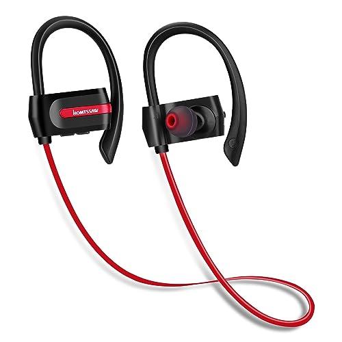 HOMTSSAW Wireless Headphones In Ear Sports Earphones with in Mic for iPhones & Android Smartphones