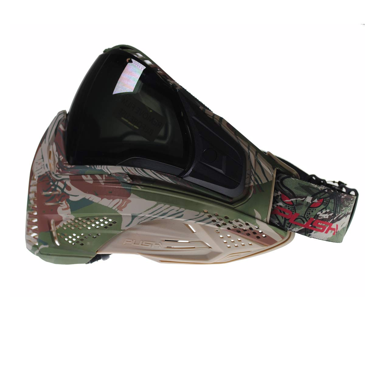 Push Unite Paintball Goggles MASK with Quad PANE Lens and CASE (Predator Camo Smoke Lens) by Push Paintball