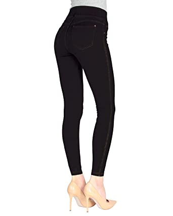 bbd305983767d SlimMe MeMoi Denim Shaping Jean Leggings | Women's Premium Jeggings at  Amazon Women's Clothing store: