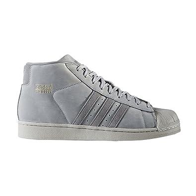 adidas Originals Mens Pro Model Basketball Hi Top Trainers 5.5 Grey 6a39d4303
