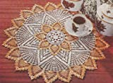 Vintage Crochet PATTERN to make - Pineapple Doily Mat Centerpiece. NOT a finished item. This is a pattern and/or instructions to make the item only.