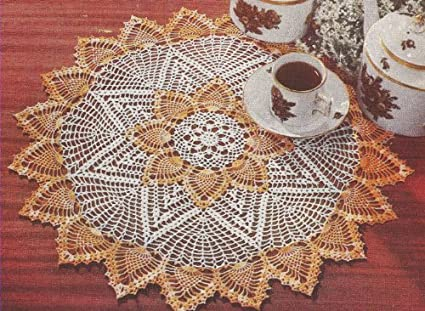 Amazon Vintage Crochet Pattern To Make Pineapple Doily Mat