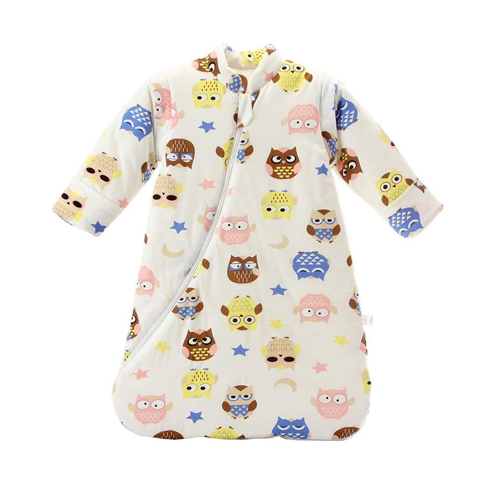 Saco de Dormir Unisex Baby Winter, Mangas Desmontables, algodón orgánico, Sacos de Dormir Acolchados, Saco de Dormir para niños, Adecuado para recién ...