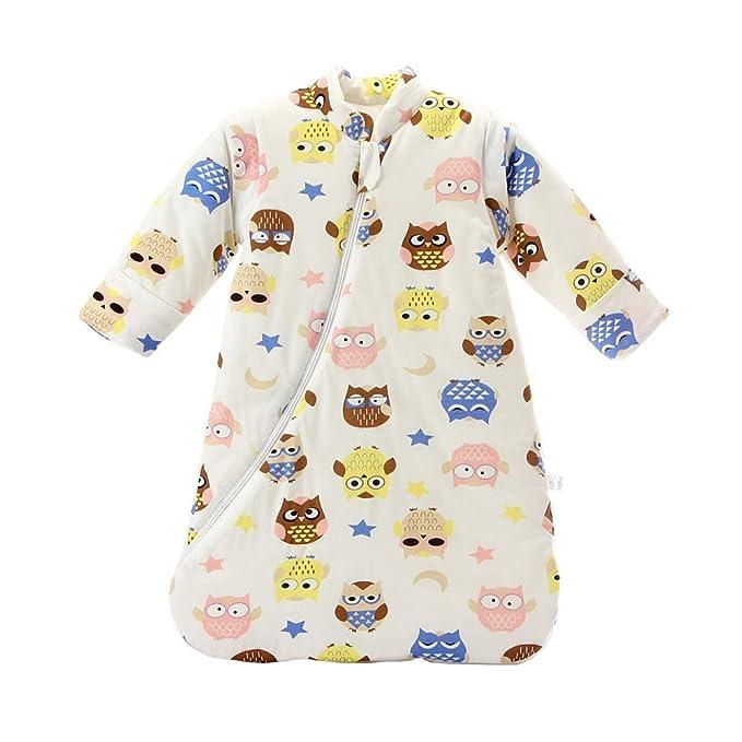 Saco de Dormir Unisex Baby Winter, Mangas Desmontables, algodón orgánico, Sacos de Dormir