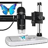 MAOZUA 5MP USB Microscope numérique 300X Zoom à fond professionnel avec support pour Windows XP/Vista/Win7/Win8/Win10/Mac